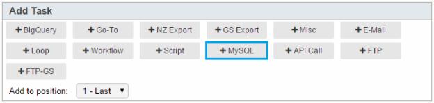 MySQL Export Task – Potens io